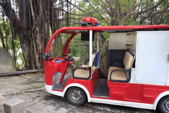 Elektryczny samochód strażacki Obraz Royalty Free