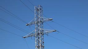 Elektryczny sieć słup Władzy technologia Metal budowa Strategiczni zasoby Ekologii władza obraz royalty free
