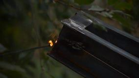 Elektryczny spaw metal rama zbiory wideo