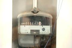 Elektryczny spożycie metr Zdjęcia Royalty Free