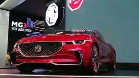 Elektryczny sporta samochodu MG ruch zbiory wideo