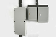 Elektryczny switchboard na ścianie Obrazy Royalty Free