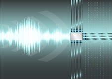 Elektryczny sygnał i jednostka centralna przetwarzamy tło Obrazy Stock
