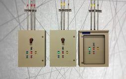 Elektryczny system w gabinetowym budynku systemu abstrakta linii backgr Obraz Royalty Free