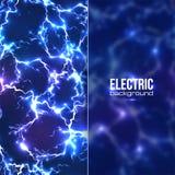 Elektryczny tło z plastikowy przejrzystym Zdjęcia Stock