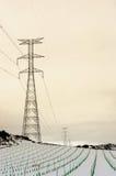 Elektryczny wierza w polu Fotografia Stock
