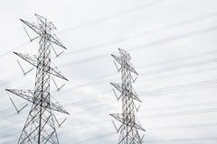 elektryczny wysoki poczta władzy woltaż Fotografia Royalty Free