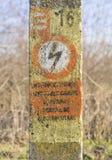 Elektryczny znak ostrzegawczy Zdjęcia Royalty Free