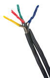 Elektryczny związku kabel, izolujący Zdjęcie Stock