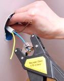 Elektryk izoluje elektrycznych druty Zdjęcia Stock