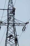 Elektryk naprawa zasilanie elektryczne system obraz royalty free