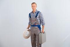 Elektryka mienia toolbox i kable fotografia royalty free