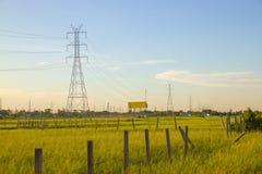 ElElectricity pylon royaltyfri bild