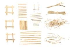 Elelments da erba asciutta per progettazione grafica Fotografie Stock Libere da Diritti