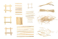 Elelments od suchej trawy dla graficznego projekta Zdjęcia Royalty Free