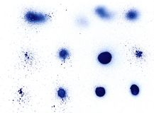 Elem del diseño de la salpicadura de la poder de aerosol Imagenes de archivo