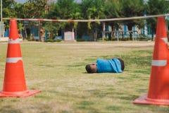 Elemantary  Students Grade 3  take exams High jump. Elemantary Students Grade 3 take exams High jump in school Royalty Free Stock Image