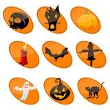 Elememts of halloween Royalty Free Stock Image