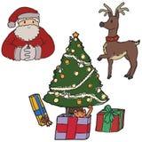 Elemenents de la Navidad ilustración del vector