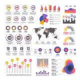 Elemens för vektor för modern presentation för affärsstrategi infographic Diagram för stånggraf och hastighets vektor illustrationer