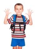 elementär liten deltagare för pojke Arkivfoton