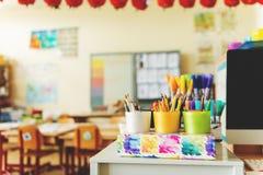 Elementärt klassrum Fotografering för Bildbyråer