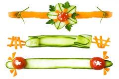 elementów dekoracyjni warzywa Obrazy Royalty Free