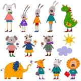 elementów dekoracyjni zwierzęta domowe ustawiają Obraz Stock