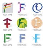 elementów f ikon listowy loga set Fotografia Royalty Free