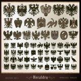 Elementów heraldyczni orły ilustracja wektor