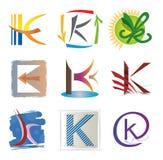 elementów ikon k listowy set Zdjęcia Stock