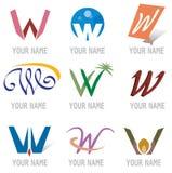elementów ikon listowy logo ustalony w Obrazy Stock