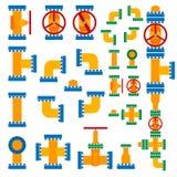 elementów ilustracyjny rurociąg setu wektor Ilustracji