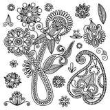 elementów kwiaty Obrazy Stock