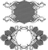 elementów ram ornamentu dwa wektor Zdjęcie Royalty Free