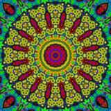 16 elementów relaksują mitycznego kalejdoskop Ilustracja Wektor