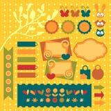 elementów scrapbook ustalony cukierki Ilustracji
