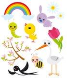 elementów sezonu wiosna
