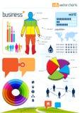 elementów wykresów infographic wektor Obraz Royalty Free