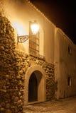 Element ściany i bramy Stary miasto przy nocą zdjęcie stock