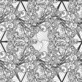 Air element black and white seamless pattern Stock Photography