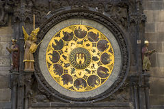 Element of ancient clock in Prague Stock Photo