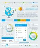 Element av Infographics med knappar vektor illustrationer