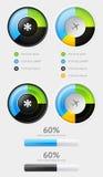 Element av Infographics med knappar stock illustrationer