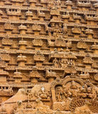 Element of bas-relief  Temple Brihadishwara Stock Photo