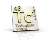 element bildar technetium för periodisk tabell stock illustrationer