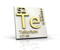 element bildar tellurium för den periodiska tabellen royaltyfri illustrationer