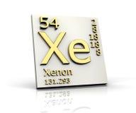element bildar xenon för den periodiska tabellen royaltyfri illustrationer
