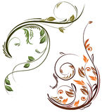 element blom- två vektor illustrationer