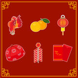 Element of Chinese new years illustration. Chinese new years illustration for greeting chinese new year, card or web design etc stock illustration